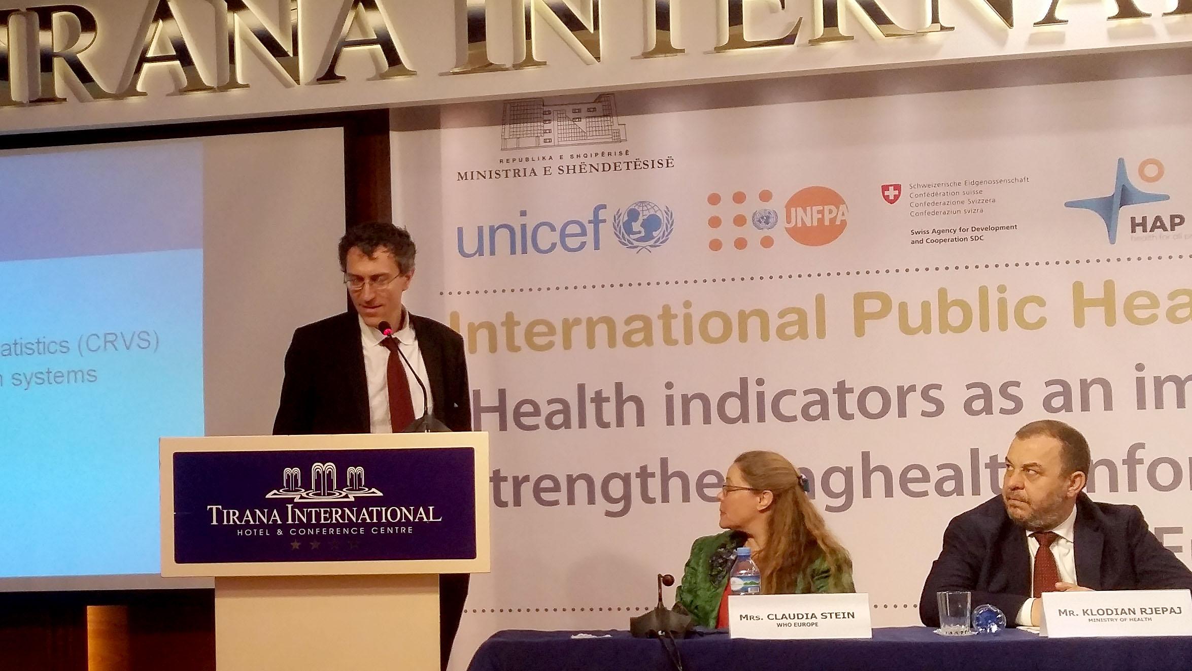 International Health Policies Conference, Tirana, 4 May16